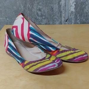 J. Crew watercolor ballet flats